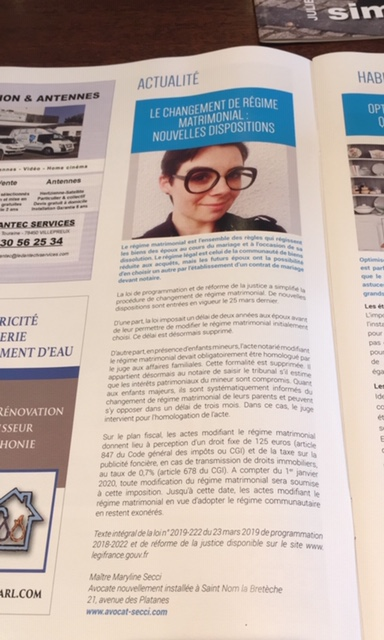 Article paru dans le magazine Bien Vivre A St Nom la Bretèche Juin/Juillet 2019